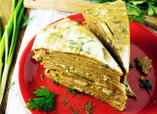 Печеночный торт с тресковой печенью   Ссылка на рецепт - https://recase.org/pechenochnyj-tort-s-treskovoj-pechenyu/  #Рыба #блюдо #кухня #пища #рецепты #кулинария #еда #блюда #food #cook