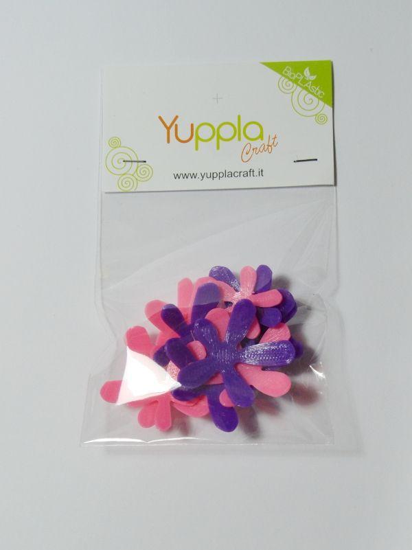 Set Fiori con Petali sporgenti realizzati dal Team di YupplaCraft. Sono disponibili nelle combinazioni di colore Viola/Rosa e Giallo/Arancio #craft #crafting #scrapbooking #spring #fiori #biglietti #handmade #madeinitaly