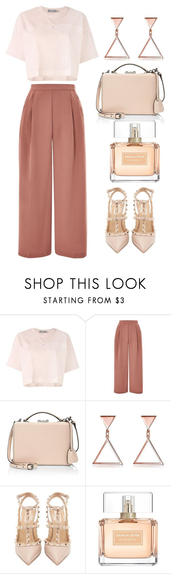 """""""Untitled #50"""" by xushargaeva ❤ liked on Polyvore featuring adidas, Topshop, Mark Cross, Valentino and Givenchy"""