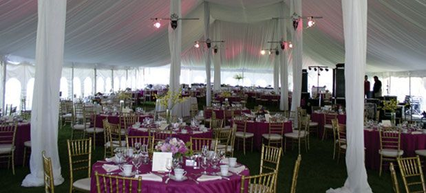 Make a tent your own by adding colorful linens and lights. Fans of pink? Check out this setup from us.