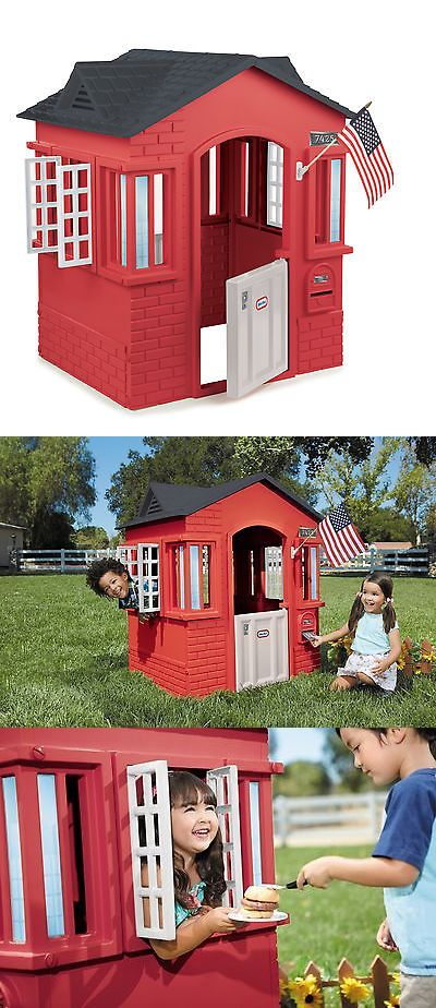 Play Tents 145997: Little Tikes Cape Cottage Playhouse Red -> BUY IT NOW ONLY: $123.99 on eBay!