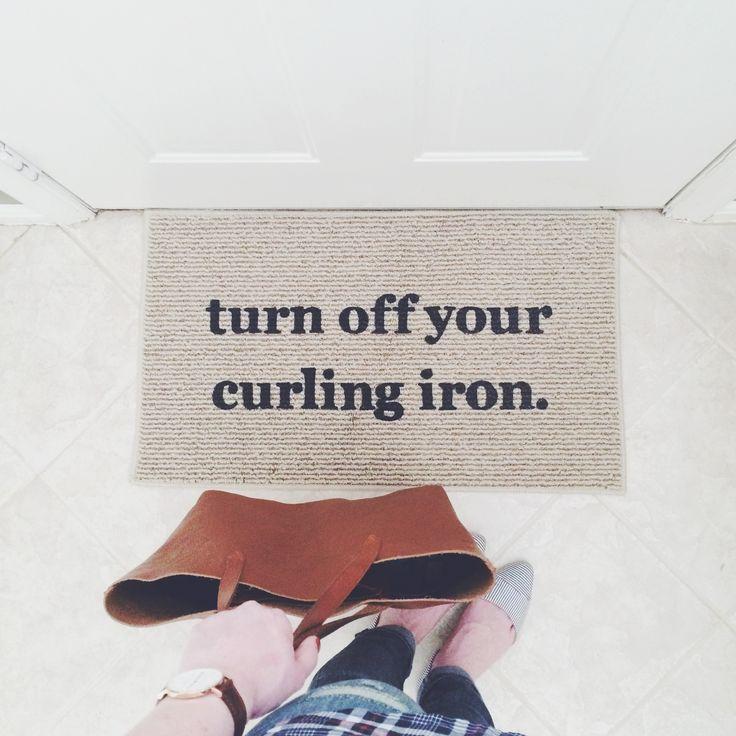 Doormat Reminder // Clickthrough for a Daniel Wellington discount code