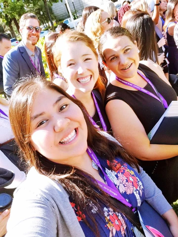 We 💜this #selfie of our Prevention and Education Team along with our Legal Director Adam R Dodge at Policy Advocacy Day with California Partnership to End Domestic Violence - Laura's House