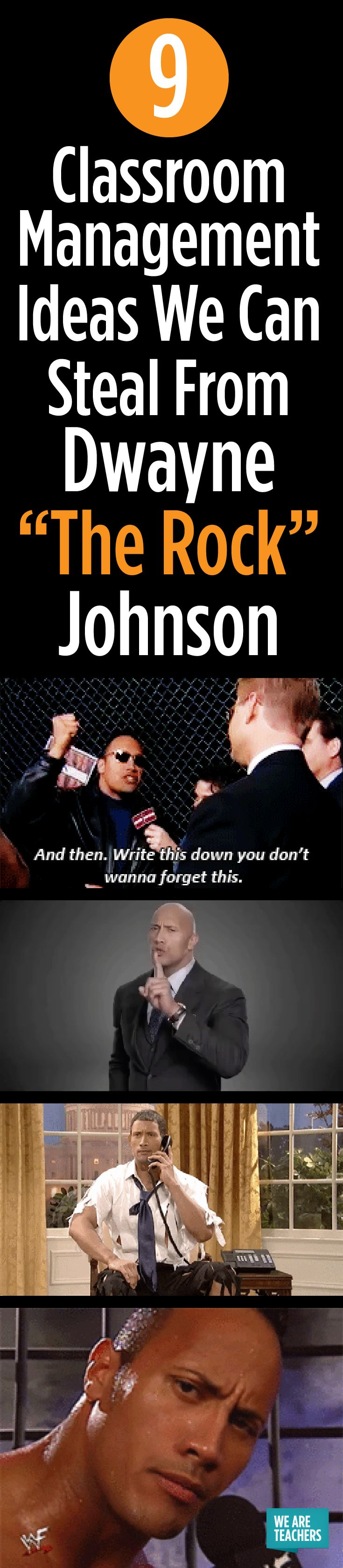 "Classroom Management Ideas Inspired By Dwayne ""The Rock"" Johnson"