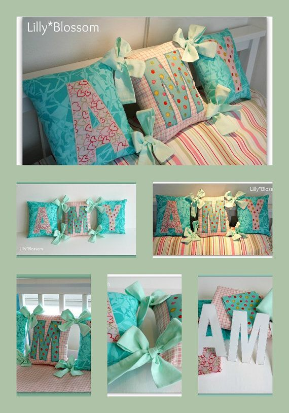 Spell A Name Tied Cushions Pdf Sewing Guide By Lillyblossom On Etsy