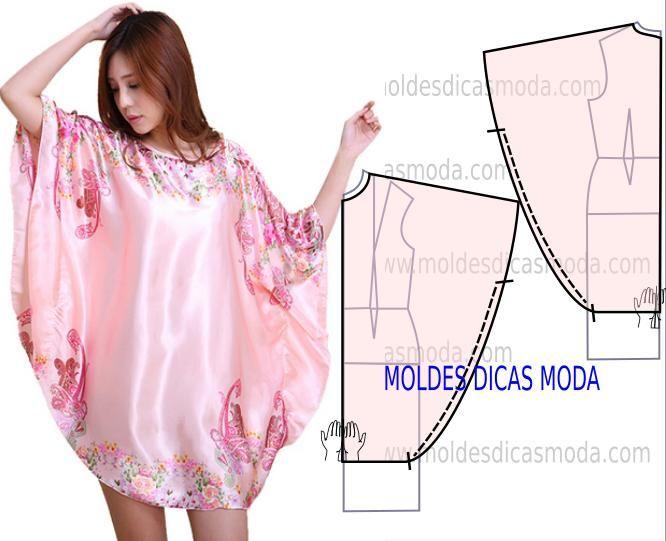 Faça a analise de forma detalhada do desenho do molde de vestido balão. Este vestido é simples e veste de forma descontraída e elegante.
