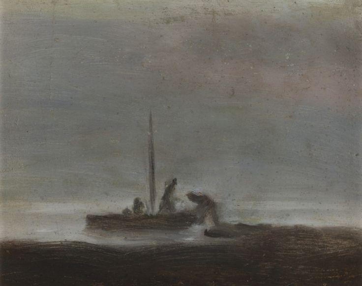 Clarice Beckett The fisherman, (undated) oil on board 19 x 24cm
