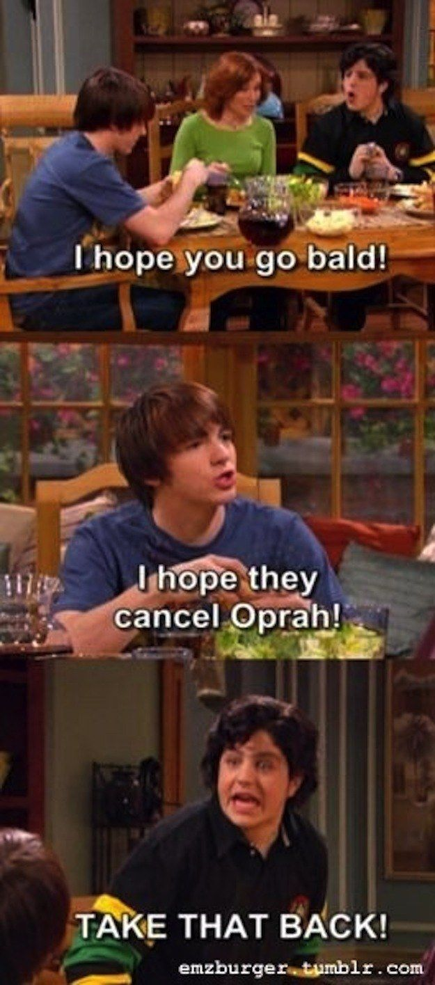 "When Drake threw shade. | 35 Memorable Lines From ""Drake And Josh""  Probably favorite"