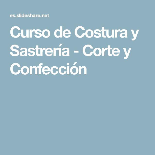 Curso de Costura y Sastrería - Corte y Confección
