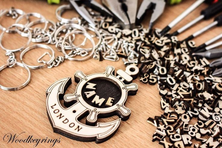 London Ship Anchor Keyring Personalised Handmade Wood Keyrings  | eBay