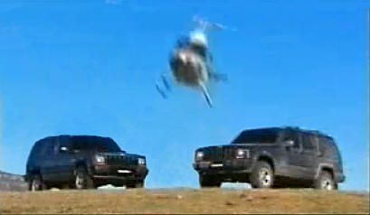 Launch of the Jeep Cherokee by Chrysler. Great action shots  were caught  by chopper during  the 4WD.