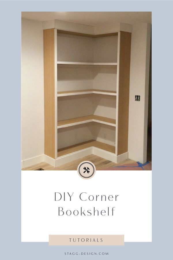 diy corner bookcase video stagg design blogger home projects rh pinterest com