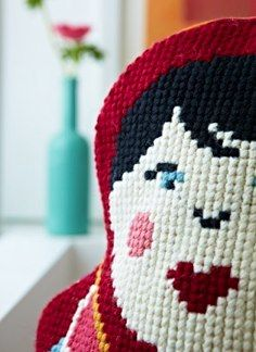Russian Doll from Supersize Stitches by Jacqui Pearce www.supersizestitches.com