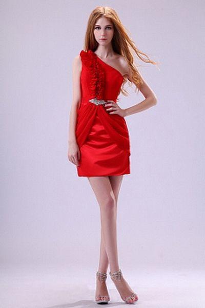 Chiffon Elegant One-shoulder Bridesmaids Dresses wr2836 - http://www.weddingrobe.co.uk/chiffon-elegant-one-shoulder-bridesmaids-dresses-wr2836.html - NECKLINE: One-shoulder. FABRIC: Chiffon. SLEEVE: Sleeveless. COLOR: Red. SILHOUETTE: Sheath/Column. - 86.