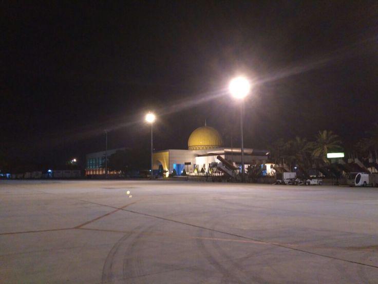 Sultan Syarief Kasim II International Airport in Pekanbaru, Riau.