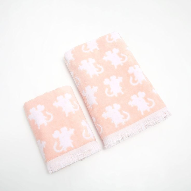 Image 2 of the product Mice fringed cotton towel