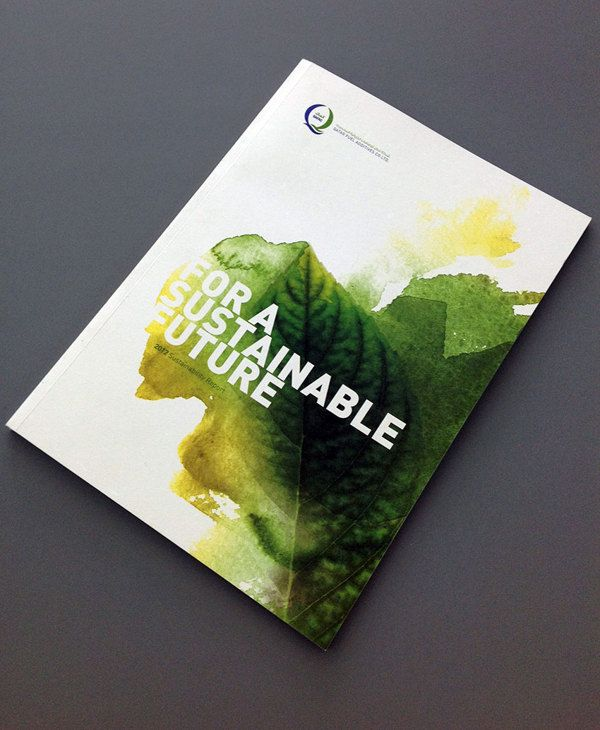 QAFAC Sustainability Report 2012 by Paulo Meunier Viana, via Behance