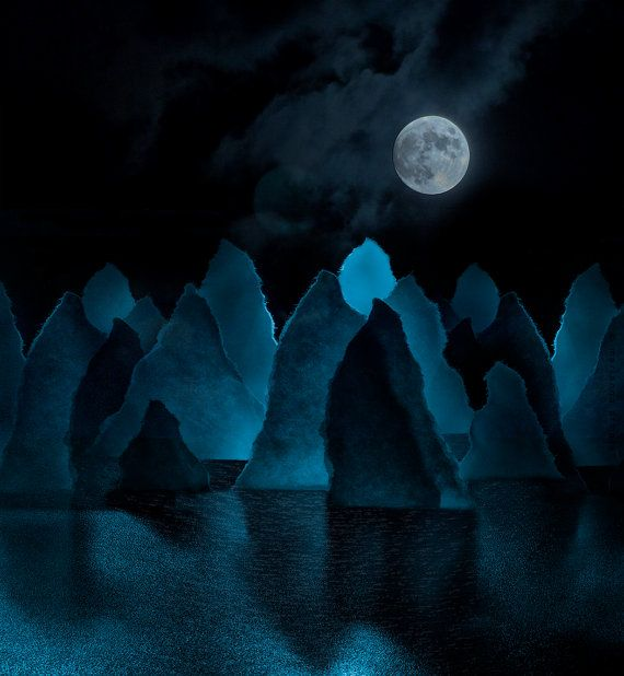Paper Moonscape by PhotographyOne on Etsy, $25.00