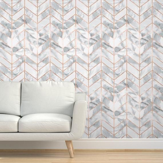 Rose Gold Wallpaper Carrera Marble Rose Gold By Etsy Rose Gold Wallpaper Gold Wallpaper Carrera Marble