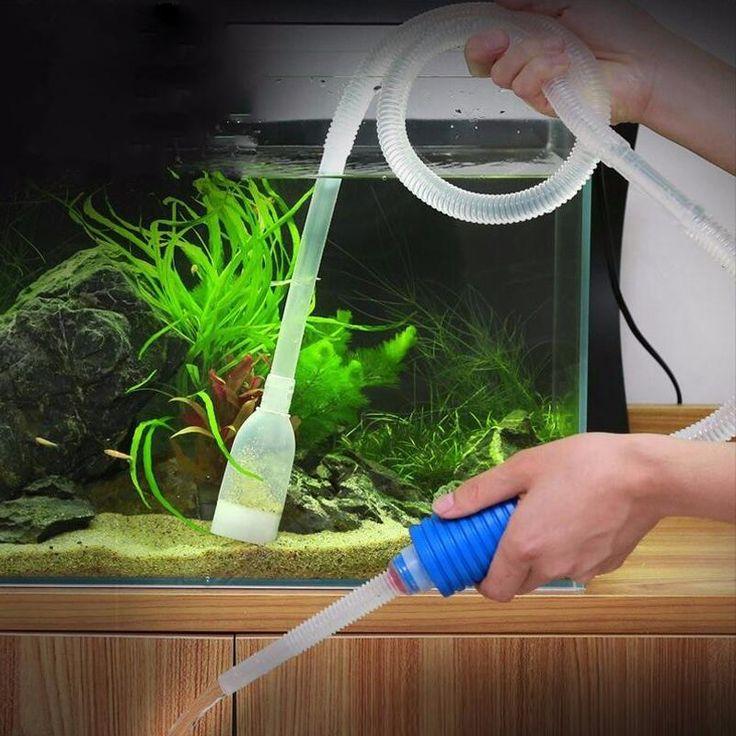 [Visit to Buy] Aquarium Manual Cleaner Tool Siphon Gravel Suction Pipe Filter Fr Fish Tank Vacuum Water Change Pump Tools Filters & Accessories #Advertisement