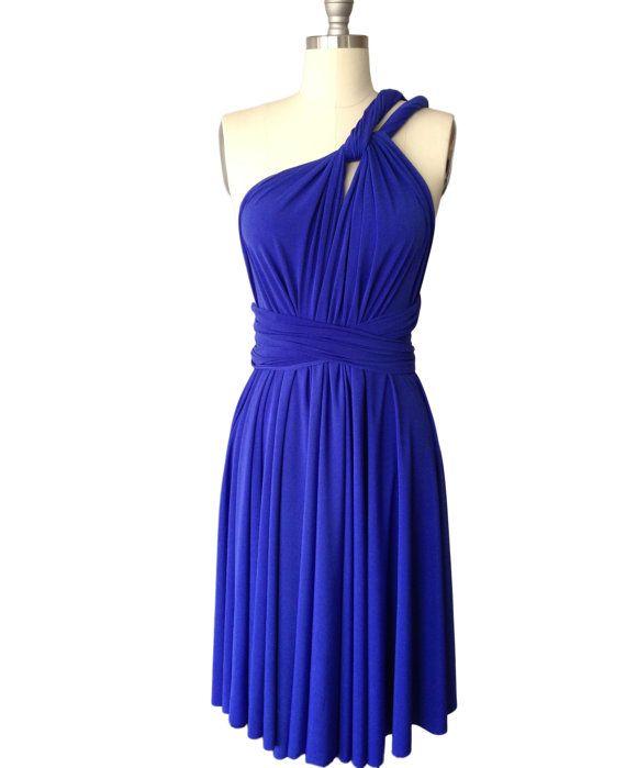 Royal Blue Infinity Dress Convertible Formal By Atomattire