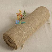 Pretty 10m Burlap Ribbon Natural Hessian Wedding Roll Jute Rustic Decoration Hot(China (Mainland))
