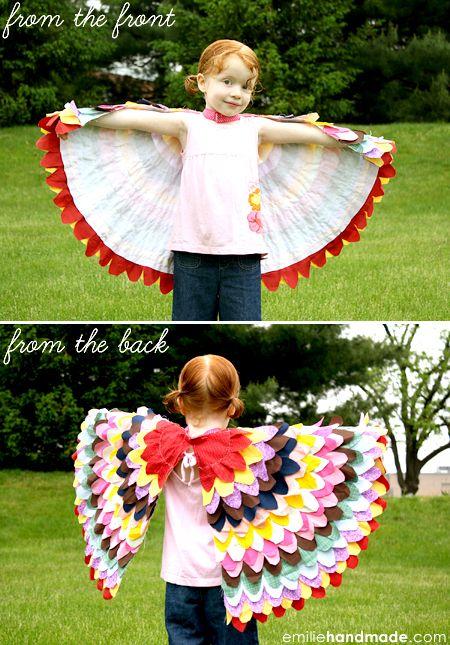 Birdie Wings--so pretty: Diy Costumes, Birds Wings, Dresses Up, Kids Dresses, Diy Halloween Costumes, Diy Birds, Birdi Wings, Step By Step Tutorials, Costumes Ideas