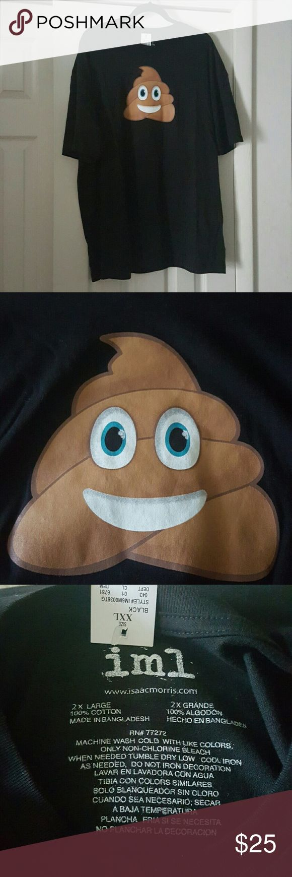 🎈SALE Poop/ Chocolate Ice Cream Emoji Tee Brand new, never worn  Super cute Technically a men's tee but can be worn by anyone Solid black with short sleeves and emoji image on front  NO TRADES   BUNDLE TO SAVE MORE iml Shirts Tees - Short Sleeve