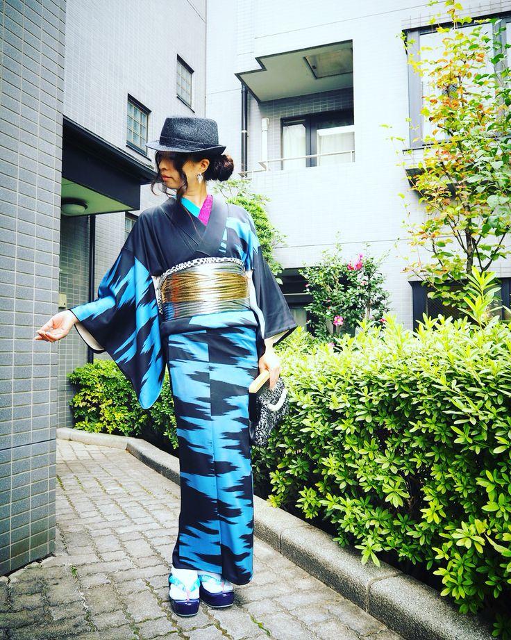 MJ inspired look on blog, ModeAppetite ロッキン着物スタイル #fashion #kimono #japanese #michaeljackson #mj #look #ootd #kimonorock #rumirock #着物 #着物コーデ #梅屋 #CHOKO #大塚呉服店