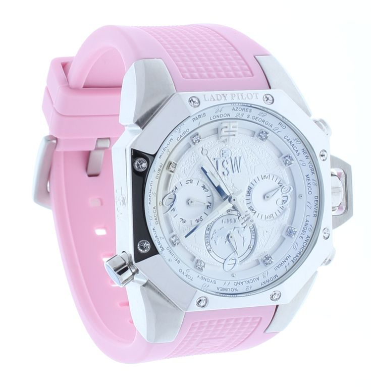 Technosport TS-100-LP4 Womens Lady Pilot Watch Light Pink Silicone Strap
