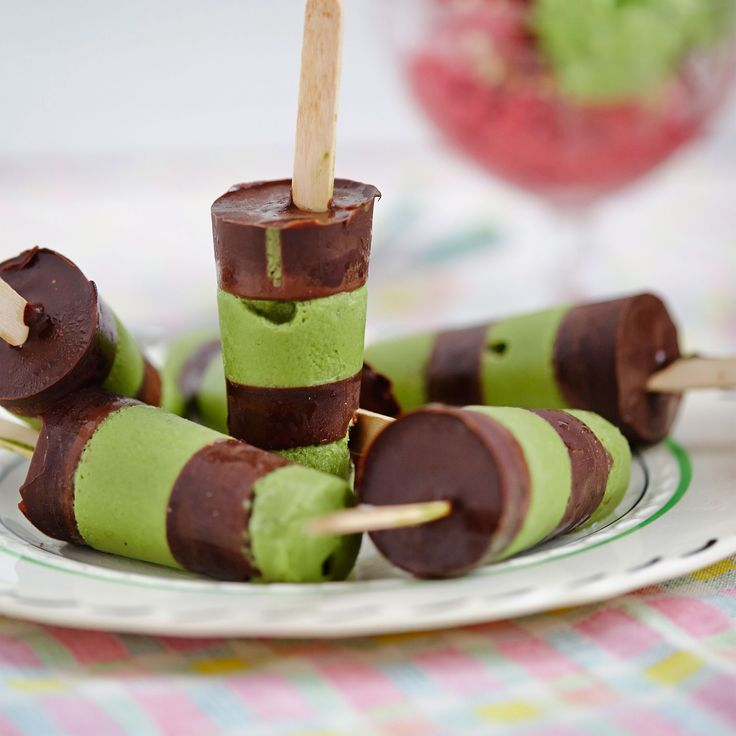 This mint ice cream recipe uses coconut milk and plenty of petits pois for sweetness. You can also turn the ice cream into lollies