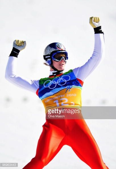Andreas Kofler of Austria reacts after he competes in the men's ski jumping team event on day 11 of the 2010 Vancouver Winter Olympics at Whistler...