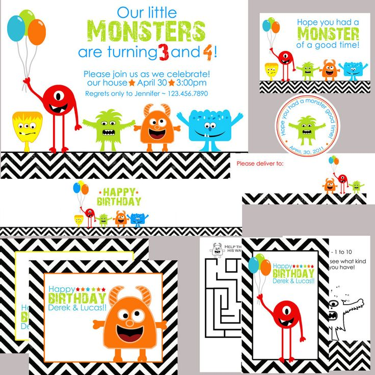 27 best monster party images on Pinterest | Monster birthday ...
