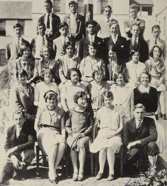 """The 1928 staff of the student newspaper (""""Highlights"""") at Beverly Hills high school in Beverly Hills, California.  #1928 #HighLights #studentNewspaper #yearbook #BeverlyHills"""
