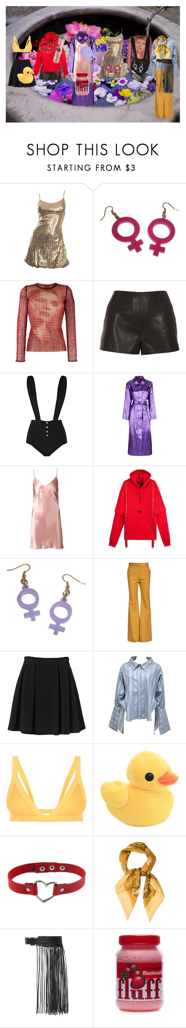 """""""Mao Leigh"""" by aurorazoejadefleurbiancasarah ❤ liked on Polyvore featuring Jean-Paul Gaultier, Fleur du Mal, Malene Oddershede Bach, By Malene Birger, Vivienne Westwood, H.I.P. and Salvatore Ferragamo"""