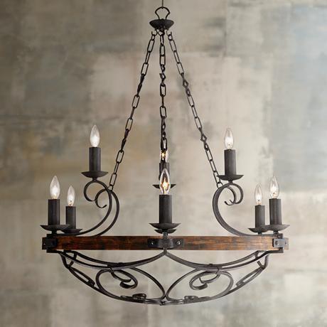 Best 25 black iron chandelier ideas on pinterest black madera 34 12 wide black iron hand forged chandelier aloadofball Images