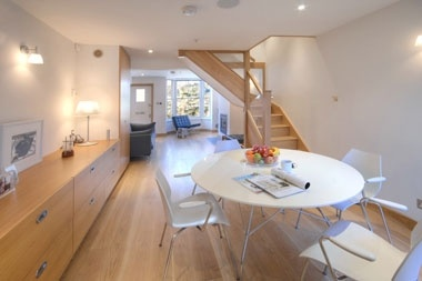 Contemporary architect converted fisherman's cottage is trendy Whitstable with amazing high tech touches and brilliant baby gear  http://www.babyfriendlyboltholes.co.uk/hoy_cottage-child-friendly-accommodation-18535.htm