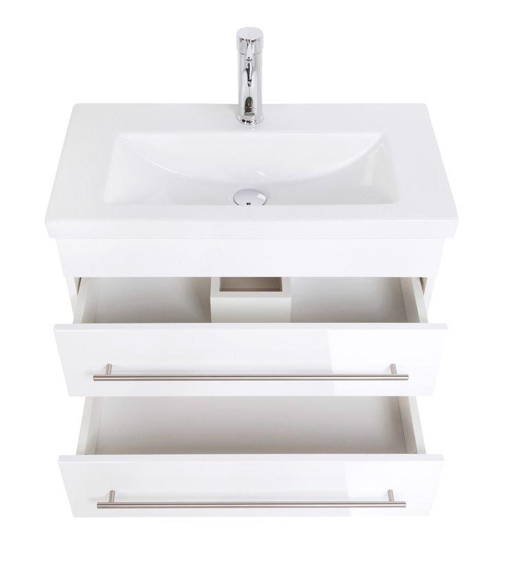 Hochwertiges Badmöbel weiß mit Waschbecken