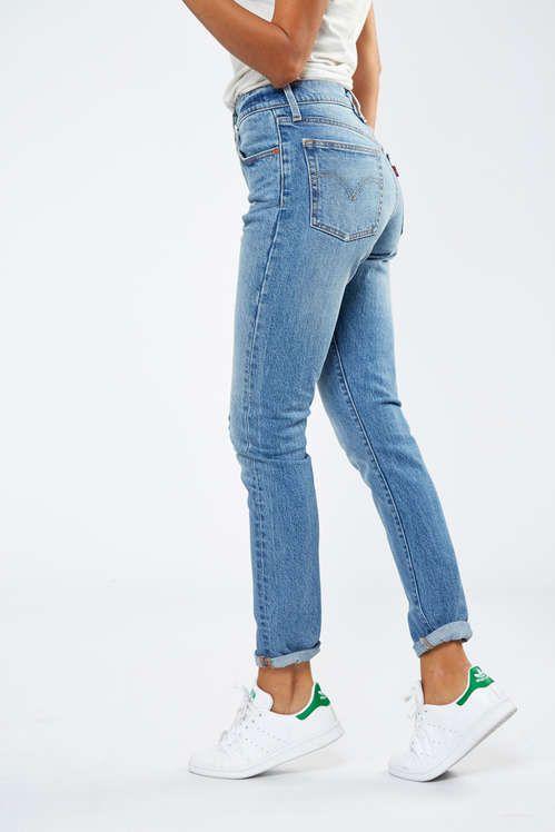 Jeans Levi s 501 Skinny Fit Bleu Used Destroy Femme   Jeans levi s ... 228736fcc800