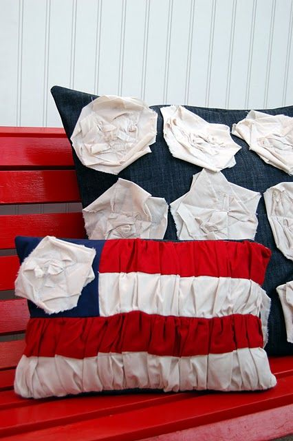 Fun 4th of July decor! Pillows Patriotic - Flag Pillows