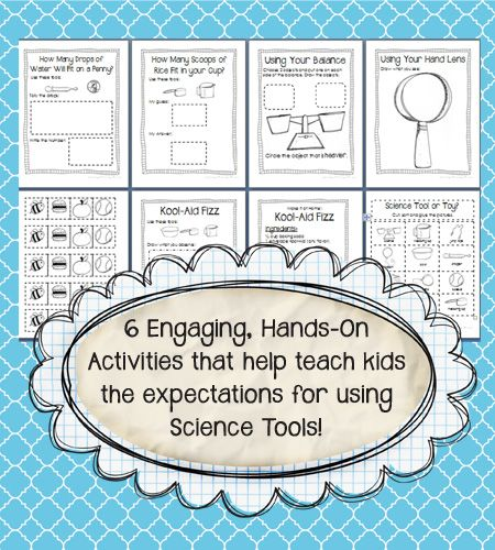 6 engaging hands-on activities that help teach kids the expectations for using science tools