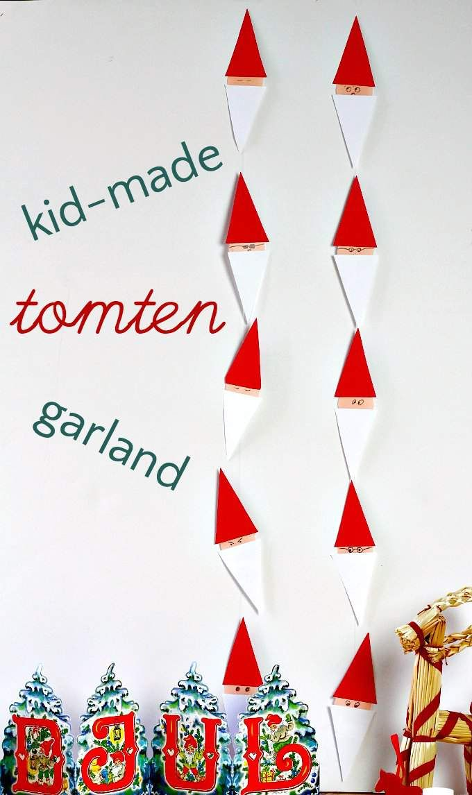 Christmas Ornaments For Kids To Make In School Part - 44: Have A Very Swedish Christmas With A Easy To Make Tomten Garland. Great For  Kids