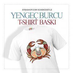 Yengeç Burcu Tasarımlı  T Shirt Baskı
