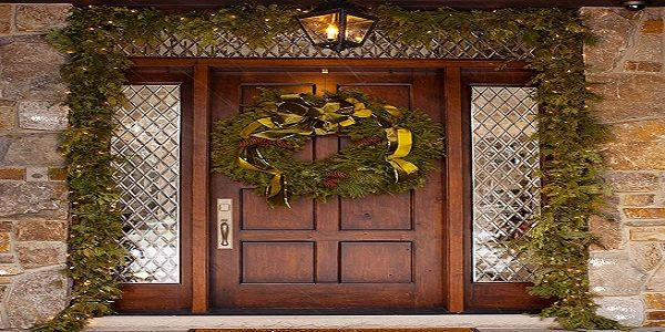 Christmas Porch Ideas with Evergreen of Christmas Lush Garland