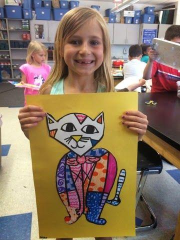 Jamestown Elementary Art Blog: First grade Romero Britto pets