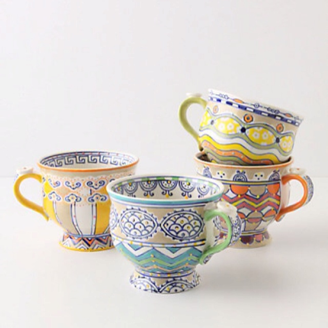 cute #Anthropologie mugs - good thing they don't have a store near me!