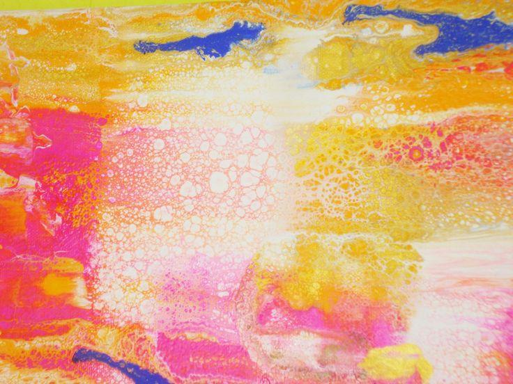 Acrylmalerei - Muttertagsgeschenk, Geschenk zum Muttertag, Fliesstechnik, Fließtechnik, liquid acryl, fluid painting, Bild - ein Designerstück von Atelier-Melanie-Landgraf bei DaWanda