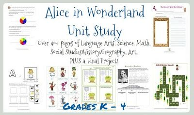 Alice in Wonderland Unit Study