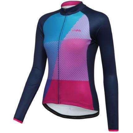 dhb Blok Prism Roubaix fietstrui voor dames (lange mouwen)