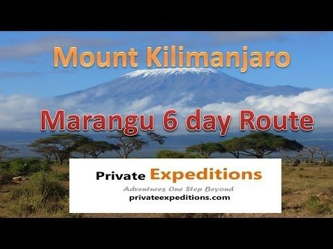 #Mount Kilimanjaro 6 day #Marangu route complete 3-D Google Earth map from Private Expeditions www.privateexpeditions.com/kilimanjaro